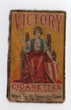 Old Collectible  cigarette packet front Victory China  #818